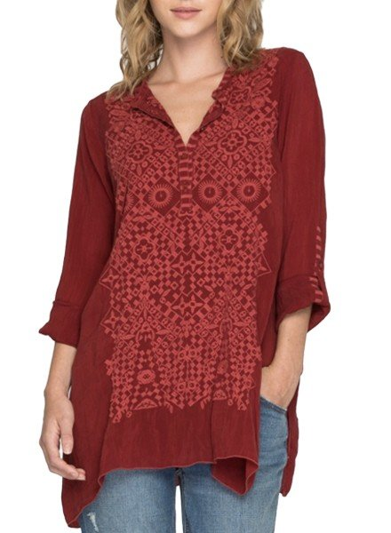 Johnny Was Rona Tunic In Port