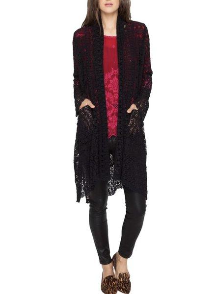 Johnny Was Coy Crochet Jacket In Black