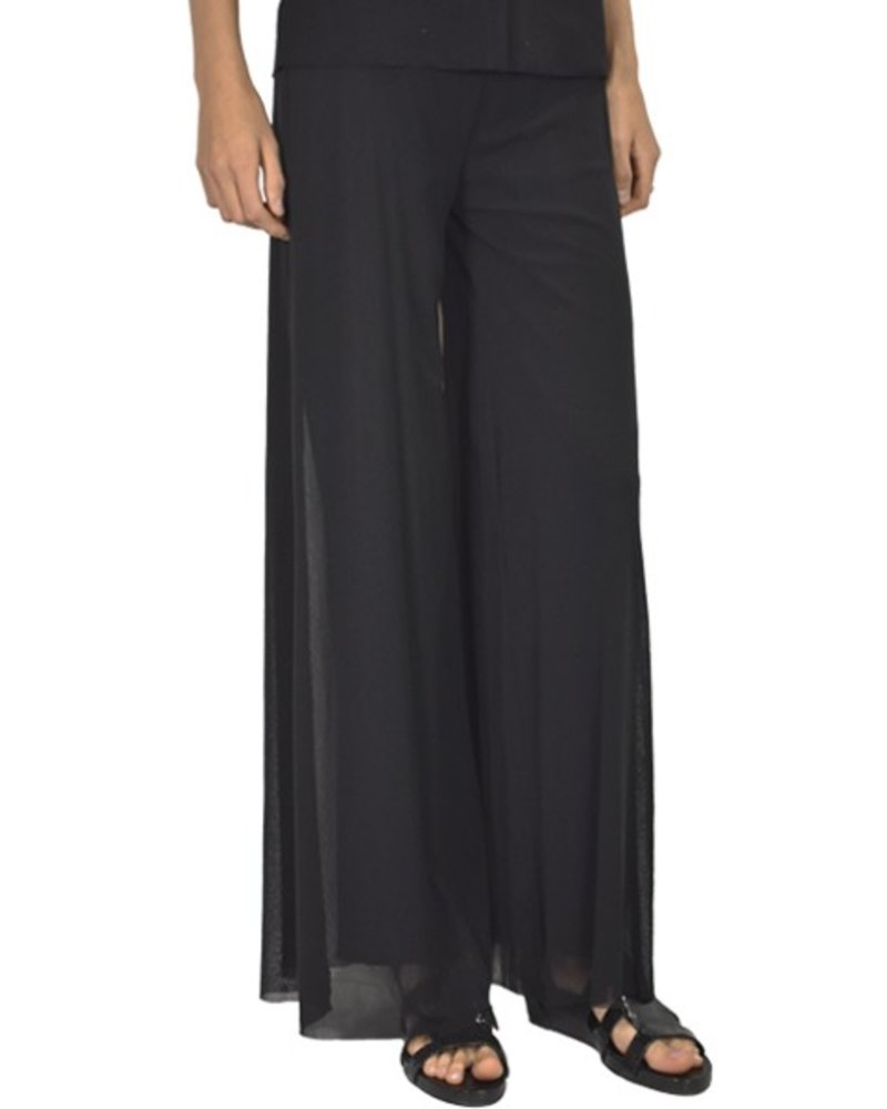 Petit Pois Lined Palazzo Pant In Black