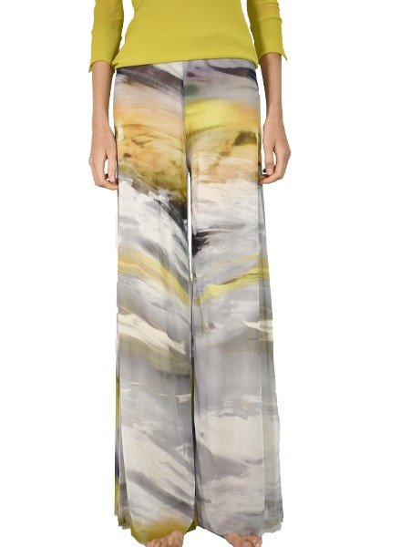 Petit Pois Palazzo Pants In Universe Print