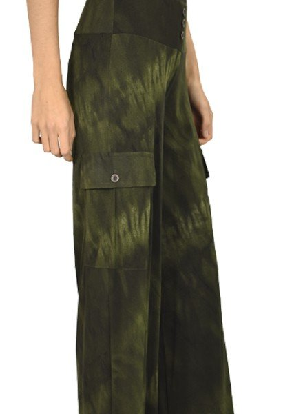 Petit Pois' Cargo Pants In Urban Army