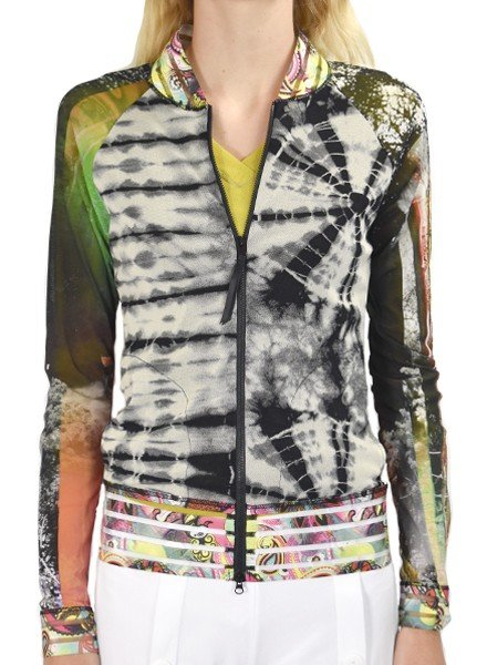 Petit Pois' Combo Bomber Jacket In Mixed Prints