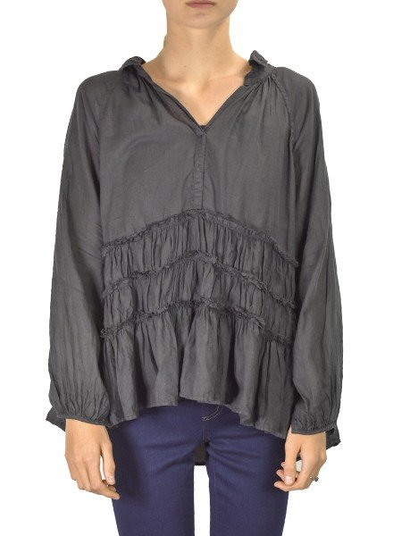 J.P. & Mattie Renee Ruffle Tunic In Black