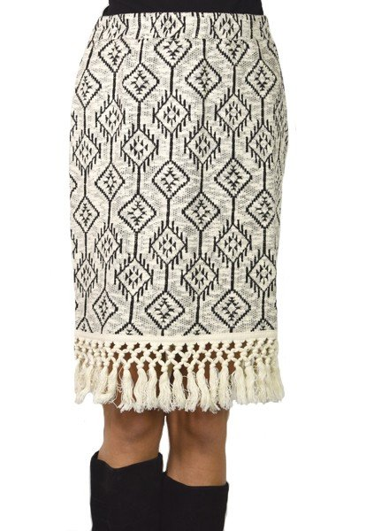 Ivy Jane's Fringed Pencil Skirt