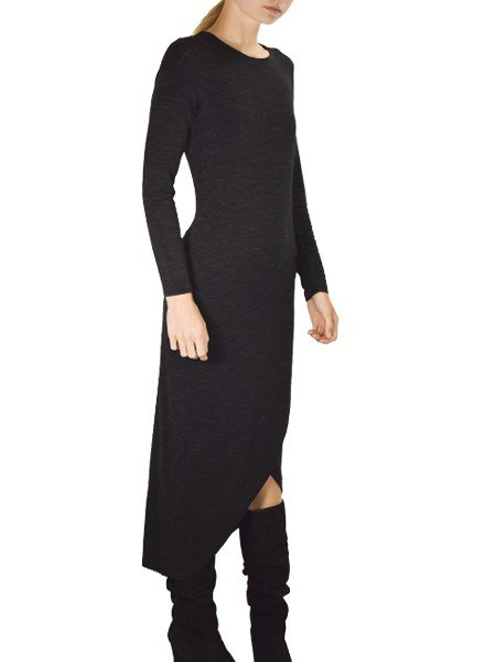 Renuar Renuar's Forest Lilly Long Dress In Black Terry