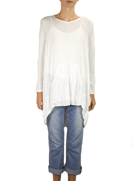 Comfy's Sheri Tunic In Crinkle White