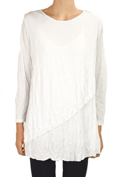 Comfy's Thompson Tunic In White Crinkle