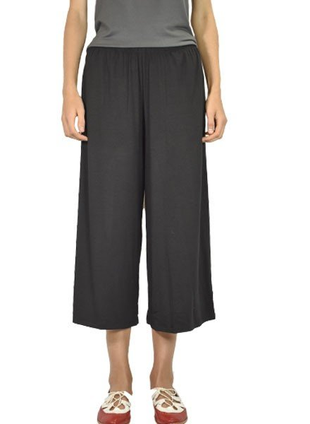 Comfy's Wide Crop Pant In Black
