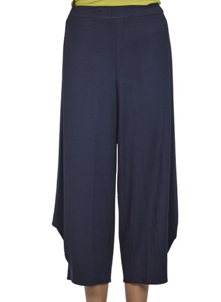 Comfy's Flat Front Ankle Pant In Navy
