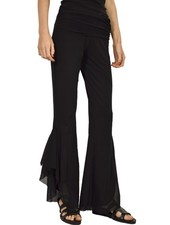 Petit Pois Hipster Pants With A Side Slit In Black