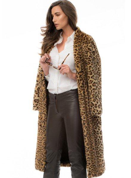 Midi Leopard Coat