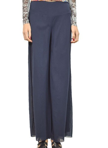 Petit Pois Lined Palazzo Pant In Midnight