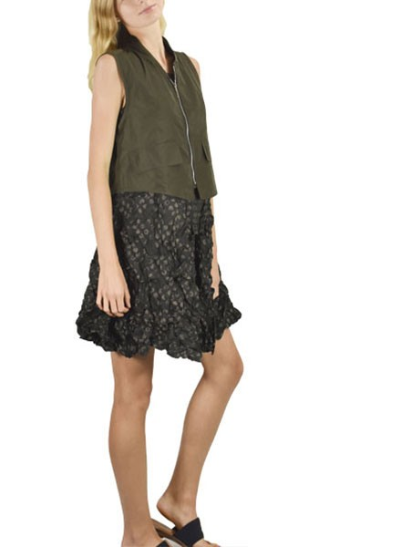 Sun Kim S Toronto Vest In Olive Shady And Katie