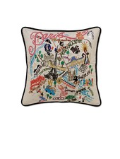 Hand Embroidered Paris Pillow