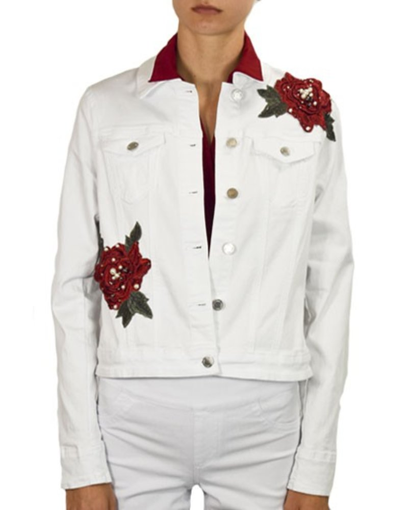 French Dressing French Dressing Corsage Jean Jacket In White