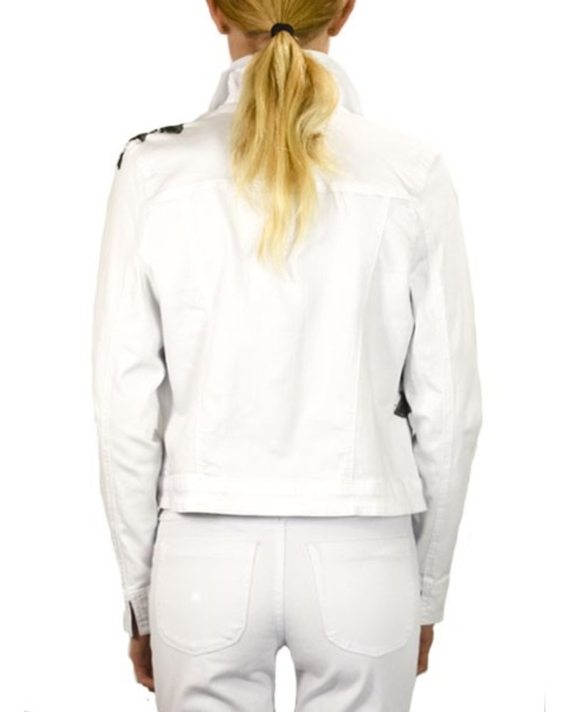 French Dressing Corsage Jean Jacket In White