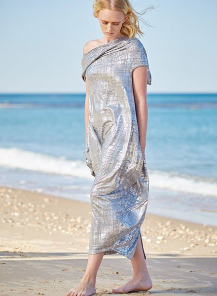 Alembika Alembika Convertable Dress In Silver