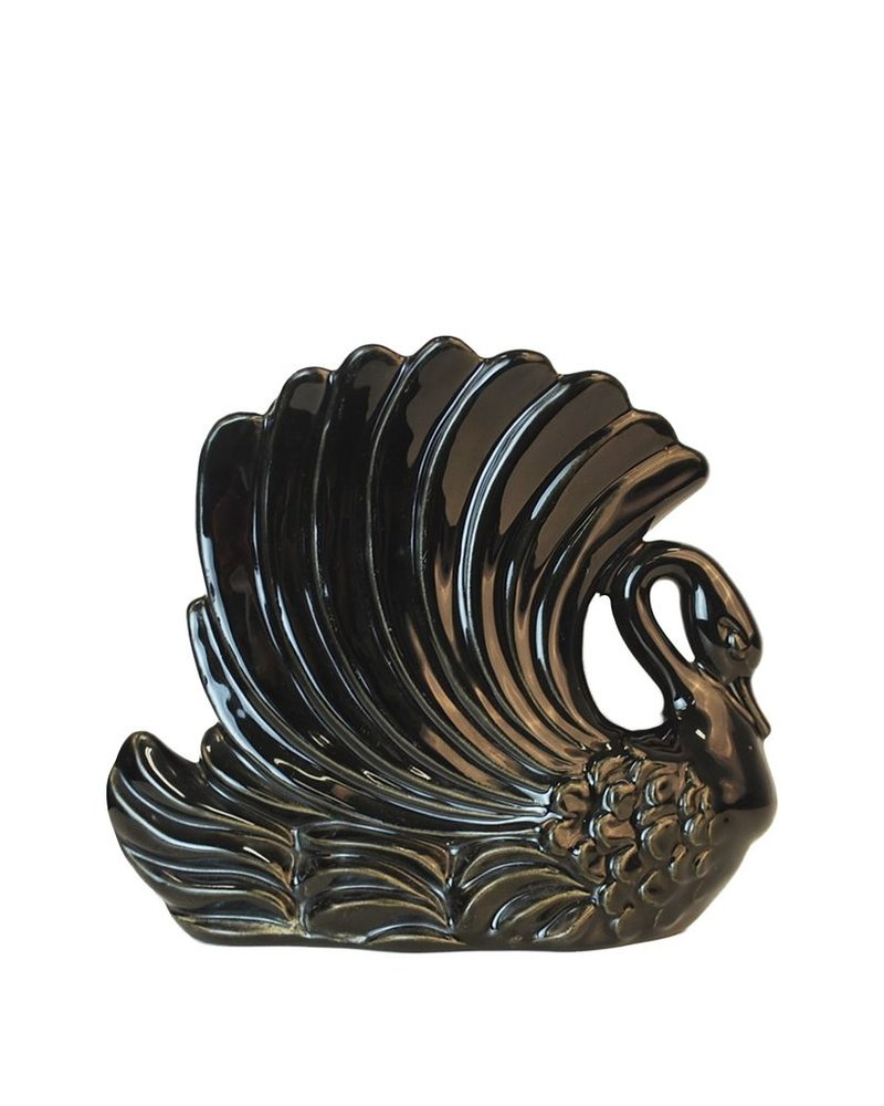 Royal Haeger Black Swan Vase