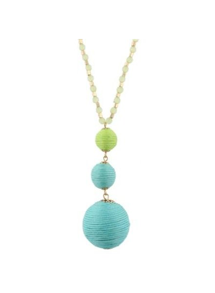 Tropical Thread Ball Necklace