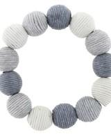 Grey Ombre Thread Ball Stretch Bracelet