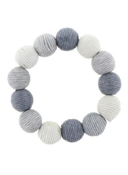 Grey Ombre Thread Ball Stretch Bracelet