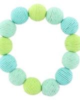 Tropical Thread Ball Stretch Bracelet