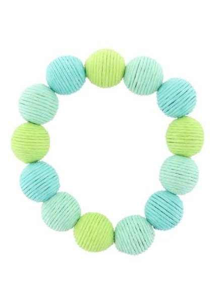 Tropical Thread Ball Stretch Bracelet