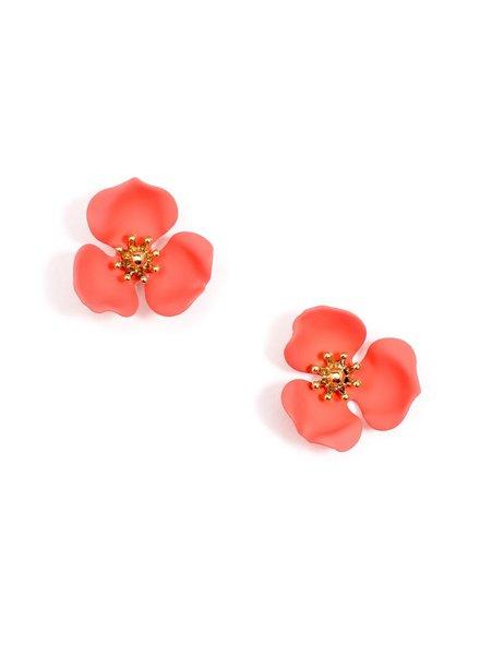 3 Petal Flower Earrings