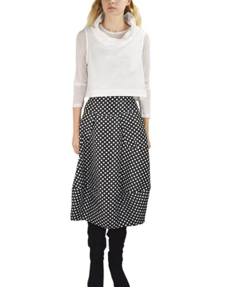 Midtown Skirt In Black With White Dots