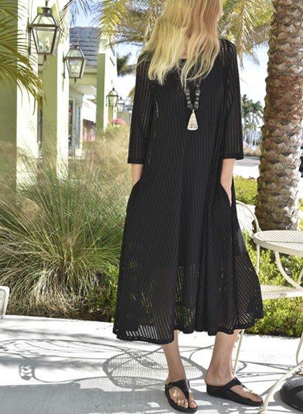 Alembika Alembika Perforated Dress In Black