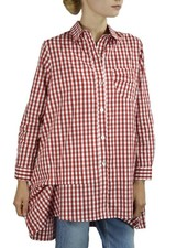 Comfy's Catherine Shirt In Red & White Gingham