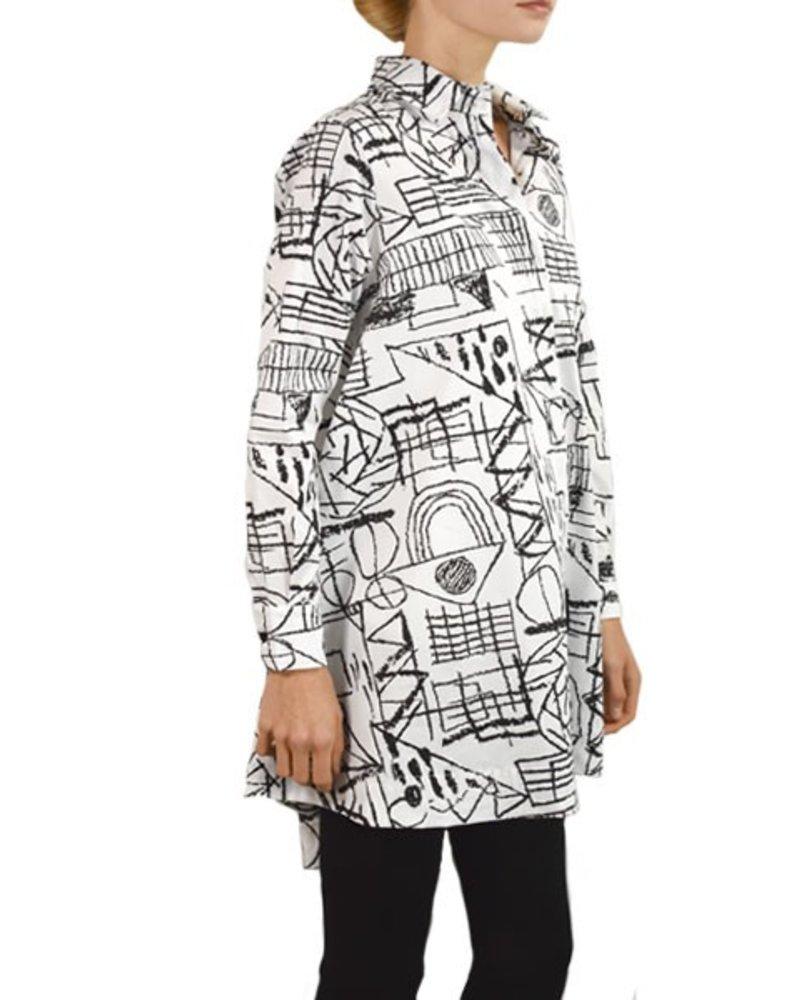 Comfy's Back Zipper Shirt In Vienna Print