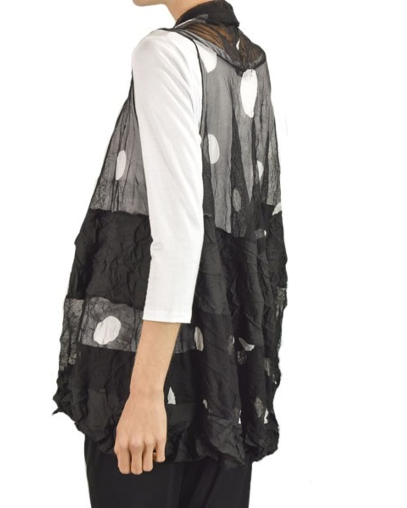 Comfy's Emma Vest In Monaco Dot Print