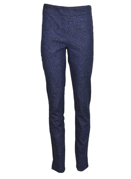 Denim Patterned Pull On Stretch Pant
