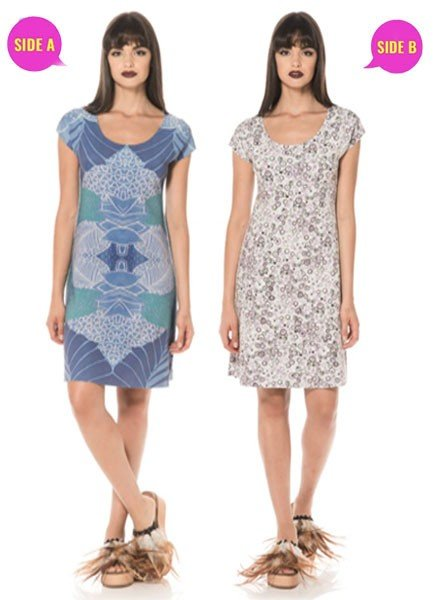 Animapop Animapop Reversible Blue Tropics Dress