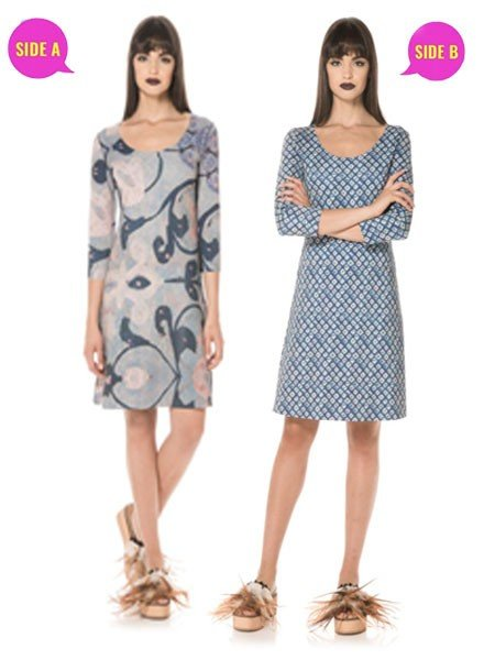Animapop Reversible Diamonds & Swirls Dress