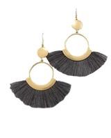 Fan Dance Earrings In Grey