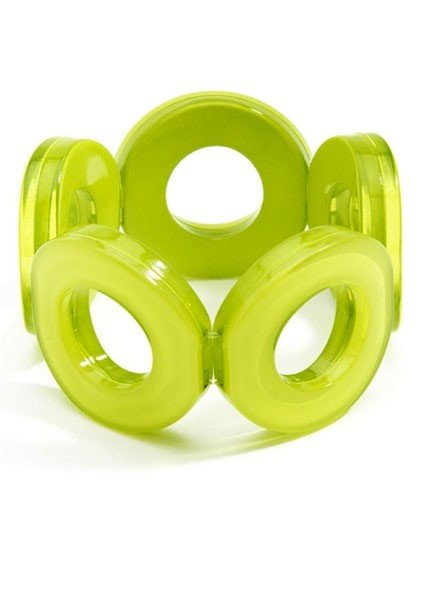 Circle Stretch Bracelet In Lime