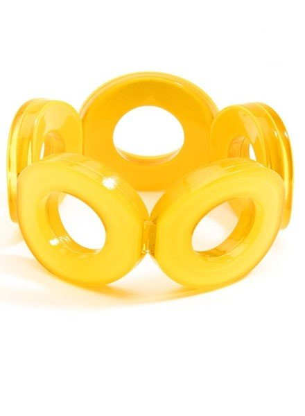Circle Stretch Bracelet In Yellow