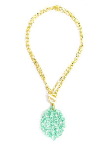 Damask Short/Long Necklace In Mint