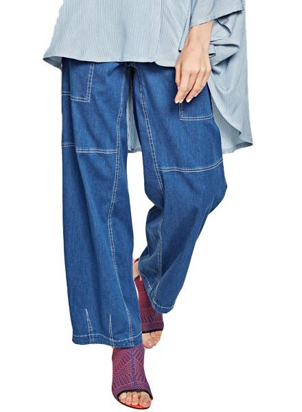 Alembika Alembika Pull On Jeans In Denim