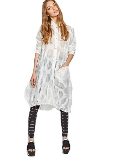 Alembika Alembika White Dot Dress