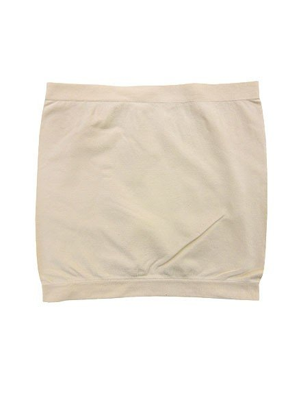 Yahada Plain Stretch Bandeau In Nude