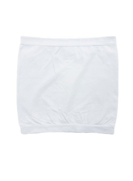Plain Stretch Bandeau In White