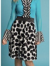 Petit Pois' Circular Skirt From The Floating Dots Collection