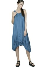 Griza Double Bubble Dress In Deep Blue