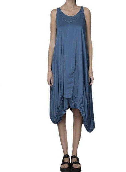 Griza Double Bubble Dress In Deep Blue