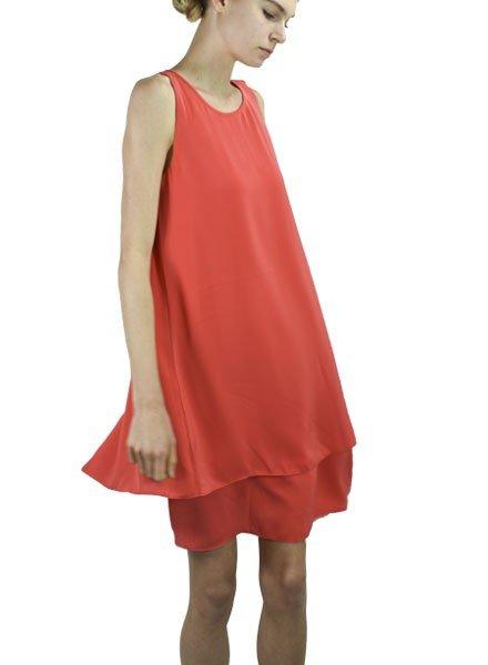 Renuar The Hibiscus Dress In Apricot