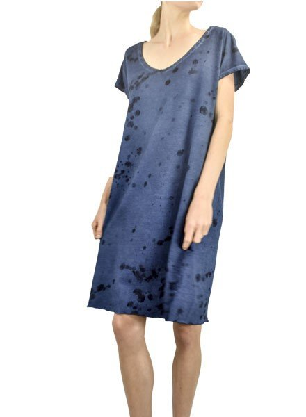 Griza Splatter Dress In Topaz Blue