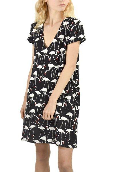 Traffic People's Flamingo Dress In Black